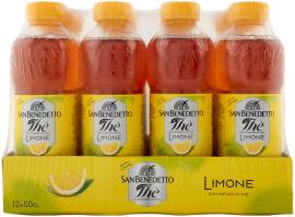Акция на Упаковка холодного черного чая San Benedetto Лимон 0.5 л х 12 бутылок (8001620002988) от Rozetka