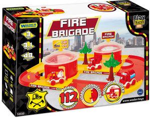 Акция на Автомобильный трек Wader Play Tracks City Набор пожарника (53510) (5900694535107) от Rozetka