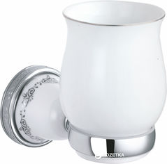 Акция на Стакан для зубных щеток AQUA RODOS VICTORIA 7421 керамика/хром от Rozetka