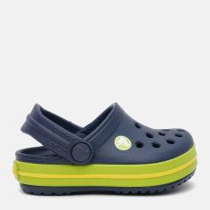 Акция на Сабо Crocs Kids Jibbitz Crocband Clog K 204537-4K6-J1 32-33 20 см Черные с зеленым (887350924701) от Rozetka