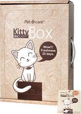 Акция на Наполнитель для кошачьего туалета KittyBox 2 в 1 минеральный комкующийся с лотком на 25 дней без замены (4820204290016) от Rozetka