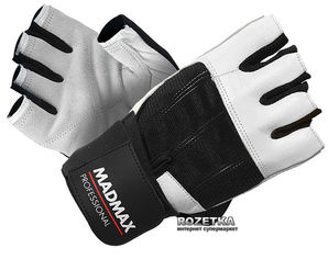 Перчатки для фитнеса MadMax Professional MFG 269 (M) Белый (8591325002319) от Rozetka