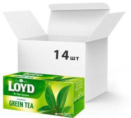Упаковка чая пакетированного Loyd Зеленый Green Tea 14 шт по 20 пакетиков (5900396024121) от Rozetka