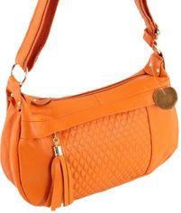 Женская кожаная сумка Traum 7322-28 Оранжевая (4820007322280) от Rozetka