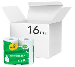 Акция на Упаковка туалетной бумаги Ecolo Белая 150 отрывов 2 слоя 16 шт х 4 рулона (4820023747142) от Rozetka