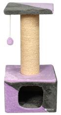 Домик с дряпкой Мур-Мяу Кошкин дом 3 37х37х75 см Серо-розовый (4823129221817) от Rozetka