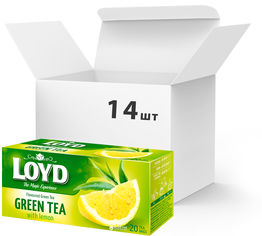 Упаковка чая пакетированного Loyd Зеленый с Лимоном 14 шт по 20 пакетиков (5900396024138) от Rozetka