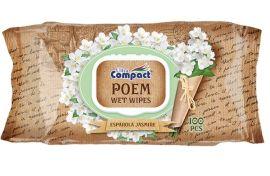 Влажные салфетки Ultra Compact Poem Испанский жасмин, с клапаном, 100 шт. от Pampik