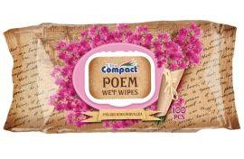Влажные салфетки Ultra Compact Poem Итальянская бугенвиллия, с клапаном, 100 шт. от Pampik