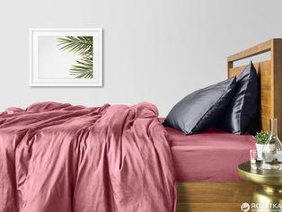 Акция на Комплект постельного белья Cosas Сатин Пудра Серый Н 200х220 (4822054075775) от Rozetka