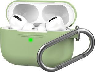 Акция на Силиконовый чехол AhaStyle с карабином для Apple AirPods Pro Green (AHA-0P100-GRN) от Rozetka