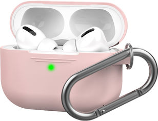 Акция на Силиконовый чехол AhaStyle с карабином для Apple AirPods Pro Pink (AHA-0P100-PNK) от Rozetka
