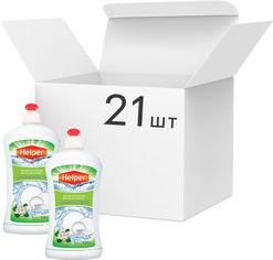 Акция на Упаковка средства для мытья посуды Helper Ароматное яблоко 500 г х 21 шт (4823019010268) от Rozetka