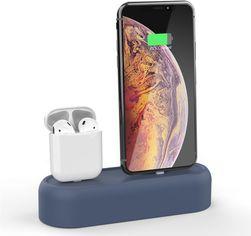 Силиконовая подставка AhaStyle 2 в 1 для Apple AirPods и iPhone Navy blue (AHA-01550-NBL) от Rozetka