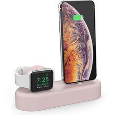 Акция на Силиконовая подставка AhaStyle 2 в 1 для Apple Watch и iPhone Pink (AHA-01560-PNK) от Rozetka