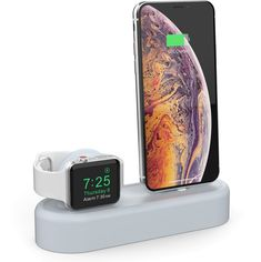 Акция на Силиконовая подставка AhaStyle 2 в 1 для Apple Watch и iPhone Light blue (AHA-01560-LBL) от Rozetka