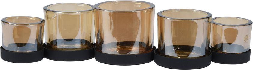 Подсвечник Home&Styling Collection стеклянный Коричневый (AKF100100) от Rozetka