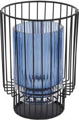 Подсвечник Home&Styling Collection стеклянный 18.5х13х13 Голубой (ASH510950_blue) от Rozetka