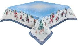 Скатерть гобеленовая Limaso Новогодние чудеса RUNNER-246 137x137 см (ROZ6205033427) от Rozetka