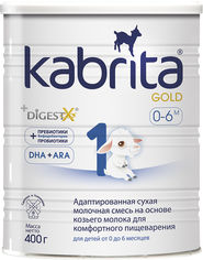 Адаптированная сухая молочная смесь Kabrita 1 Gold для комфортного пищеварения на основе козьего молока (для детей от 0 до 6 месяцев) 400 г (8716677007373) от Rozetka
