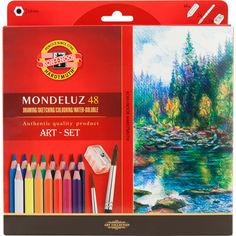 Акция на Акварельные карандаши Koh-i-Noor Mondeluz 48 цветов картонная упаковка (3713) от Rozetka