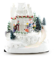 Светящаяся музыкальная фигурка Angel Gifts Домик 19 см (Я19850_AG44803_3) от Rozetka