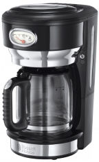 Акция на Капельная кофеварка RUSSELL HOBBS RETRO CLASSIC NOIR (21701-56) от Rozetka
