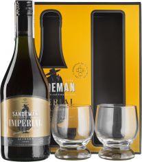 Акция на Бренди Sandeman Imperial 0.7 л 40% + 2 стакана (2131109311099) от Rozetka