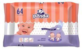 Влажные салфетки Panda, 64 шт. от Pampik