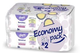 Детские влажные салфетки Bella Baby Happy Sensetive Aloe Vera Economy Pack, 2х56 шт. от Pampik