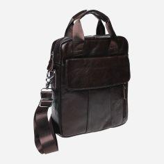 Акция на Мужская кожаная сумка Laras K108863 Коричневая (ROZ6206118195) от Rozetka