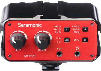 Акция на Микшер для микрофона Saramonic SR-PAX1 от Rozetka