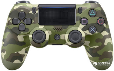Беспроводной геймпад PlayStation Dualshock 4 Bluetooth PS4 Green Camouflage от Rozetka