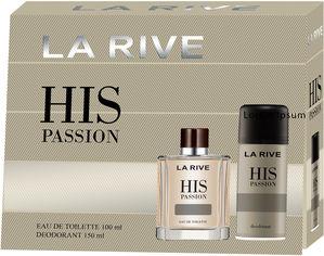 Акция на Мужской подарочный набор La Rive His Passion Туалетная вода 100 мл + Дезодорант 150 мл (5901832067771) от Rozetka