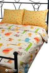 Акция на Комплект постельного белья Руно Сатин 143x215 см (1.137К_Jungle) от Rozetka