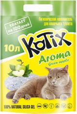 Наполнитель для кошачьего туалета Kotix Aroma Green Apple Силикагелевый впитывающий 3.5 кг (10 л) (6930095837479) от Rozetka