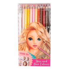 Акция на Цветные карандаши Top Model Skin and hair colours 12 шт (45678) от Будинок іграшок