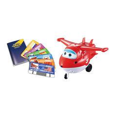 Акция на Интерактивная игрушка Super Wings Jett с карточками (YW710410) от Будинок іграшок