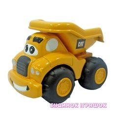 Акция на Игровой набор Инерционная техника САТ для малышей Самосвал Гарри Toy State 9 см (80401) от Будинок іграшок