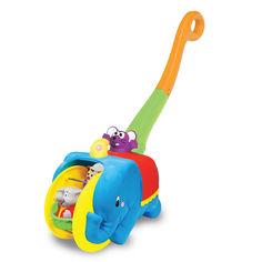 Акция на Каталка Kiddieland Слон-циркач озвучена на русском (049759) от Будинок іграшок