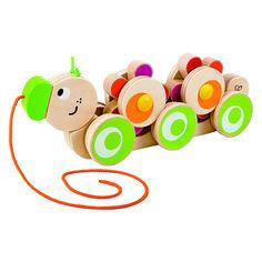 Игрушка-каталка HAPE Гусеница (Е0351) от Будинок іграшок