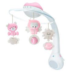 Акция на Музыкальный мобиль Infantino 3 в 1 с проектором розовый (004914I) от Будинок іграшок