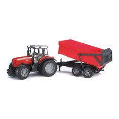 Акция на Машинка игрушечная Трактор масей с прицепом Bruder 1:16 (02045) от Будинок іграшок