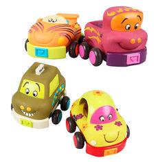 Акция на Игровой набор Battat Забавный автопарк со звуком (BX1048Z) от Будинок іграшок