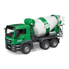 Акция на Машинка игрушечная Бетоновоз Bruder Ман бело-зеленый (03710) от Будинок іграшок
