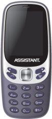 Акция на Мобільний телефон Assistant AS-203 Blue от Територія твоєї техніки